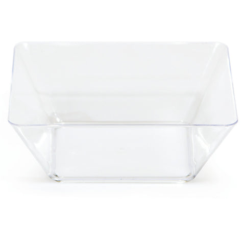 "Clear Mini Disposable Bowl Square 5"" Containers-Disposable Catering Supplies-Creative Converting-48-"