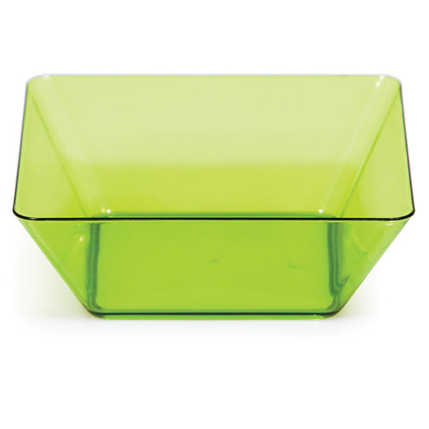 "Green Mini Disposable Bowl Square 5"" Containers-Disposable Catering Supplies-Creative Converting-48-"