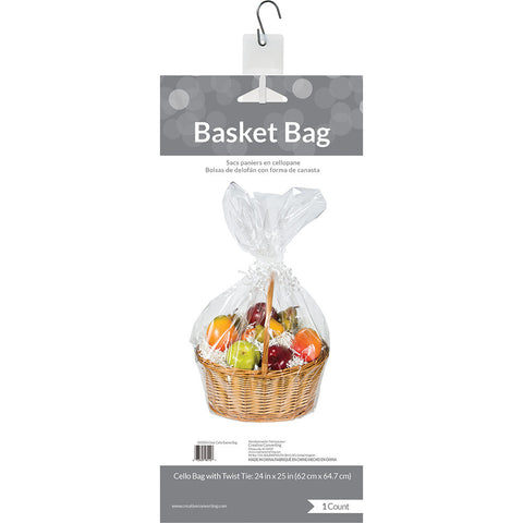 Clear Bulk Party Cellophane Gift Basket Bags Large