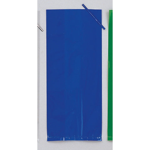 Blue Bulk Party Cello Treat Bags With Ties Large