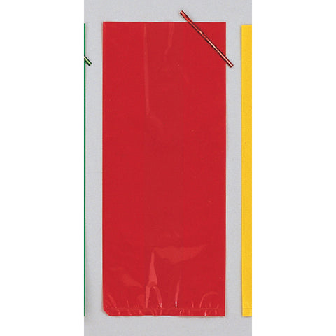 Red Bulk Party Cello Treat Bags With Ties Large