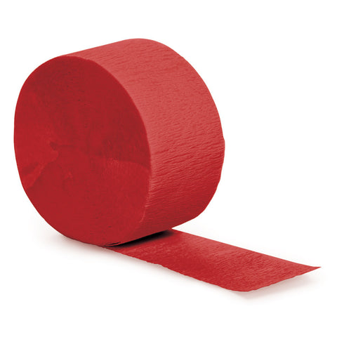 Red Bulk Party Crepe Paper Streamers 81' (12/Case)-Solid Color Party Tableware-Creative Converting-12-