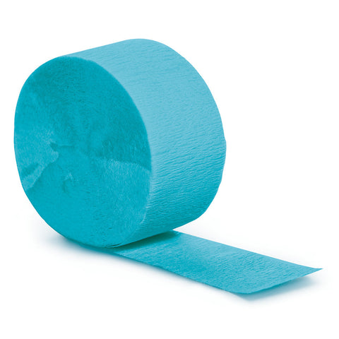 Bermuda Blue Bulk Party Crepe Paper Streamers 81' (12/Case)