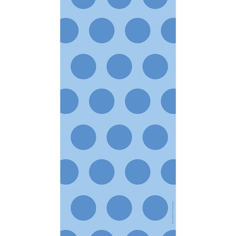 Blue Bulk Party Polka Dot Cello Treat Bags