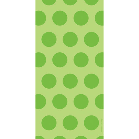 Lime Green Bulk Party Polka Dot Cello Treat Bags-Disposable Catering Supplies-Creative Converting-240-