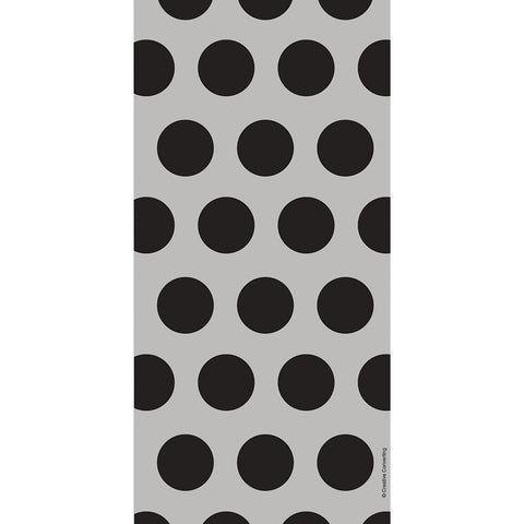 Black Bulk Party Polka Dot Cello Treat Bags-Disposable Catering Supplies-Creative Converting-240-