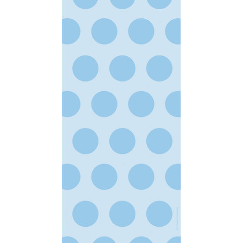 Pastel Baby Blue Bulk Party Polka Dot Cello Treat Bags