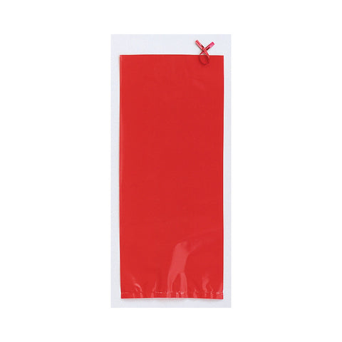 Red Bulk Party Cello Treat Bags With Ties Small