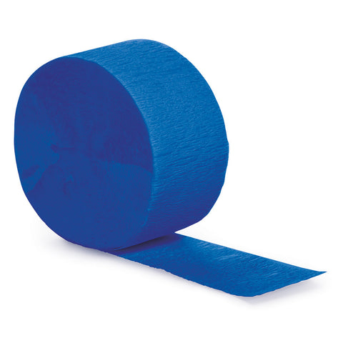 Cobalt Blue Bulk Party Crepe Paper Streamers 81' (12/Case)-Solid Color Party Tableware-Creative Converting-12-