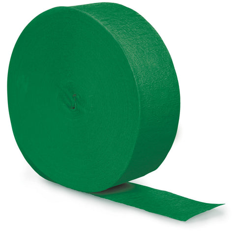 Emerald Green Bulk Party Crepe Paper Streamers 500' (12/Case)-Solid Color Party Tableware-Creative Converting-12-