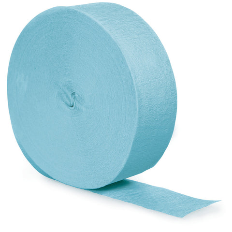 Baby Blue Bulk Party Crepe Paper Streamers 500' (12/Case)-Solid Color Party Tableware-Creative Converting-12-