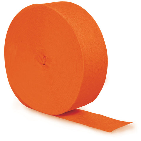 Orange Bulk Party Crepe Paper Streamers 500' (12/Case)-Solid Color Party Tableware-Creative Converting-12-