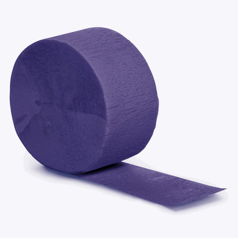 Purple Bulk Party Crepe Paper Streamers 81' (12/Case)-Solid Color Party Tableware-Creative Converting-12-