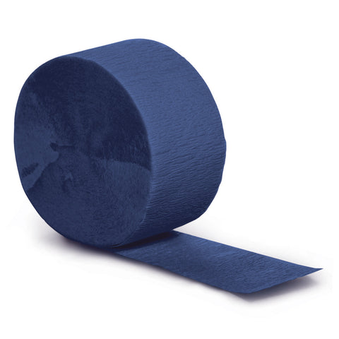 Navy Blue Bulk Party Crepe Paper Streamers 81' (12/Case)-Solid Color Party Tableware-Creative Converting-12-