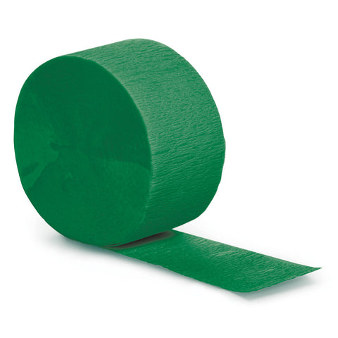 Emerald Green Bulk Party Crepe Paper Streamers 81' (12/Case)-Solid Color Party Tableware-Creative Converting-12-