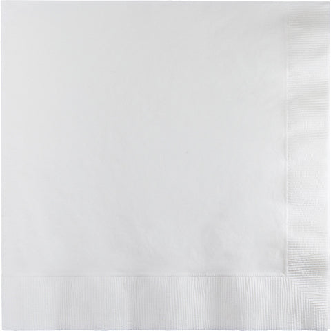 White Bulk Party 2 Ply Lunch Napkins (600/Case)-Solid Color Party Tableware-Creative Converting-600-