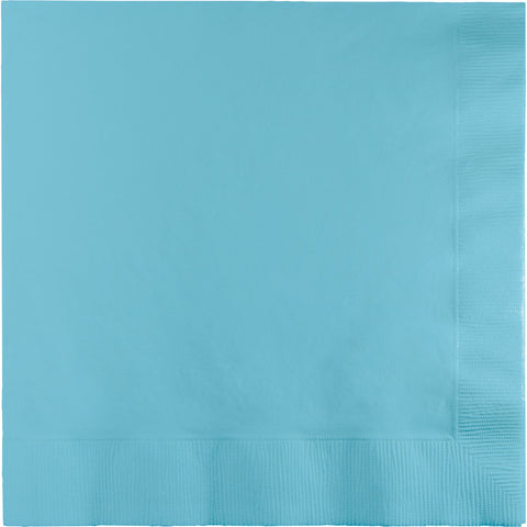 Baby Blue Bulk Party 2 Ply Lunch Napkins (600/Case)-Solid Color Party Tableware-Creative Converting-600-
