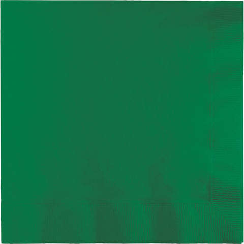 Emerald Green Bulk Party 2 Ply Lunch Napkins (600/Case)-Solid Color Party Tableware-Creative Converting-600-