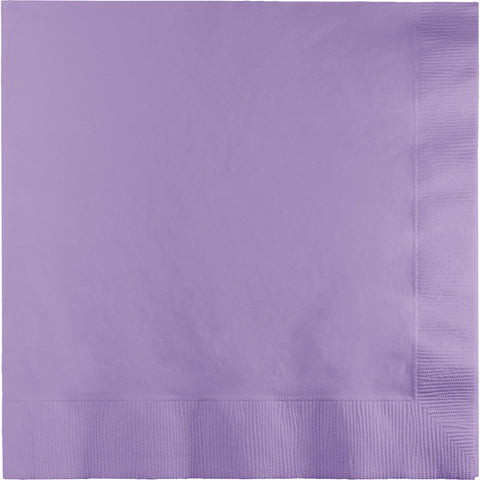 Lavender Bulk Party 2 Ply Lunch Napkins (600/Case)-Solid Color Party Tableware-Creative Converting-600-