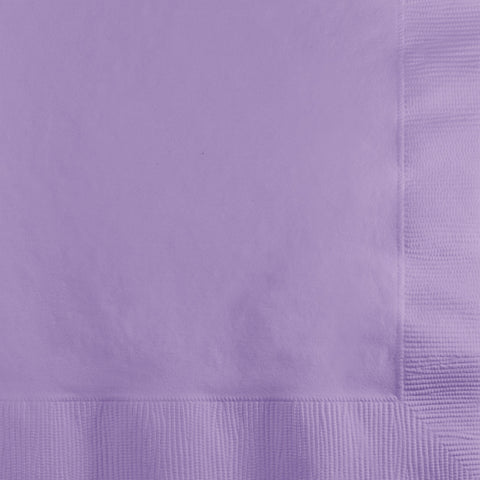 Lavender Bulk Party 2 Ply Beverage Napkins (600/Case)-Solid Color Party Tableware-Creative Converting-600-