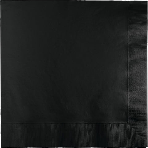 Black Bulk Party 2 Ply Lunch Napkins (600/Case)