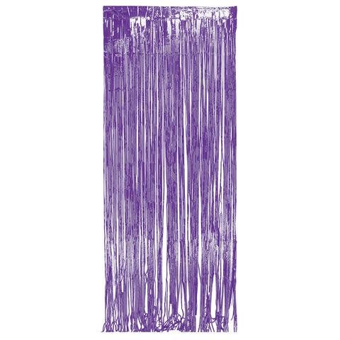 Purple Bulk Party Foil Door Curtains 3 ft. x 8 ft. Decorations