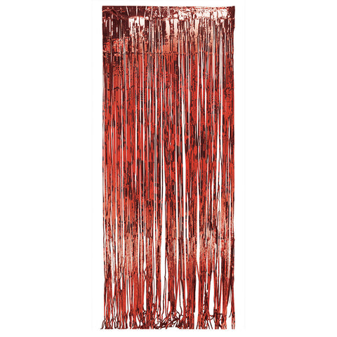 Red Bulk Party Foil Door Curtains 3 ft. x 8 ft. Decorations