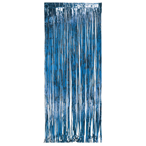 Blue Bulk Party Foil Door Curtains 3 ft. x 8 ft. Decorations