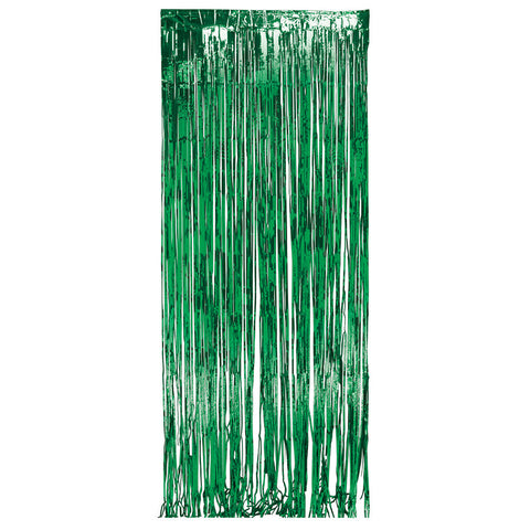 Green Bulk Party Foil Door Curtains 3 ft. x 8 ft. Decorations