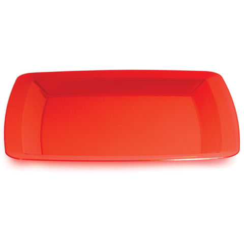 "Red Disposable Catering Dinner Plates Square 10.25""-Disposable Catering Supplies-Creative Converting-48-"