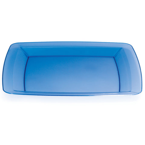Blue Disposable Catering Dinner Plates Square 10.25""