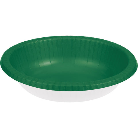Emerald Green Bulk Party Paper Bowls 20 oz. (200/Case)