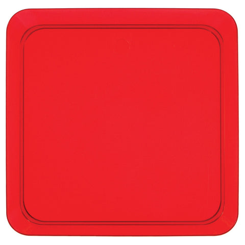 "Red Mini Disposable Appetizer Plates Square 5""-Disposable Catering Supplies-Creative Converting-96-"