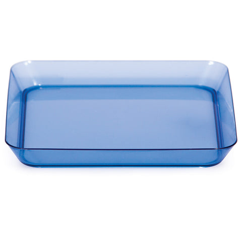 Blue Mini Disposable Appetizer Plates Square 5""