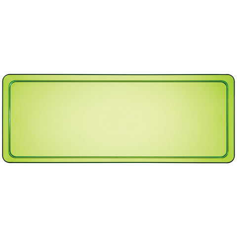 "Green Disposable Catering Party Tray Platters 6"" x 15.5"""