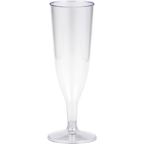 Clear Disposable Catering Champagne Glasses 5 oz-Disposable Catering Supplies-Creative Converting-96-