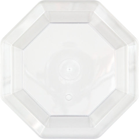 Clear Disposable Catering Dinner Plates Octagonal