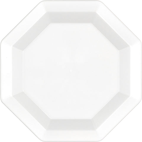 White Disposable Catering Lunch Plates Octagonal-Disposable Catering Supplies-Creative Converting-72-