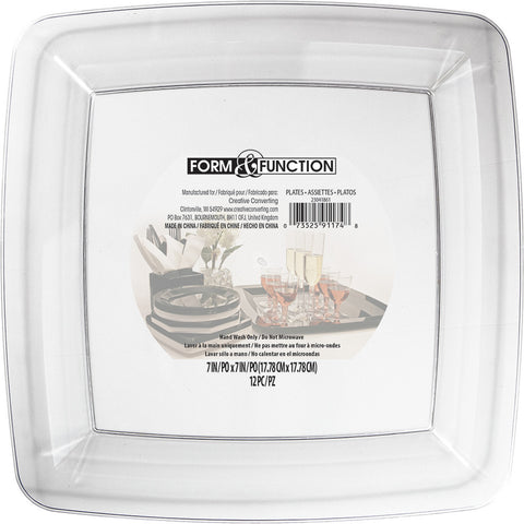 Clear Disposable Catering Lunch Plates Square