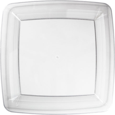 Clear Disposable Catering Dinner Plates Square