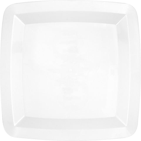 White Disposable Catering Lunch Plates Square-Disposable Catering Supplies-Creative Converting-72-