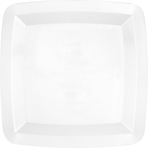 White Disposable Catering Dinner Plates Square-Disposable Catering Supplies-Creative Converting-48-