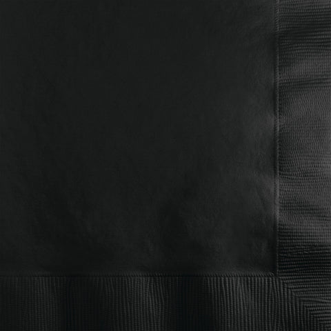 Black Bulk Party 2 Ply Beverage Napkins (1200/Case)
