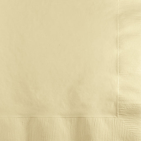 Ivory Bulk Party 2 Ply Beverage Napkins (1200/Case)-Solid Color Party Tableware-Creative Converting-1200-