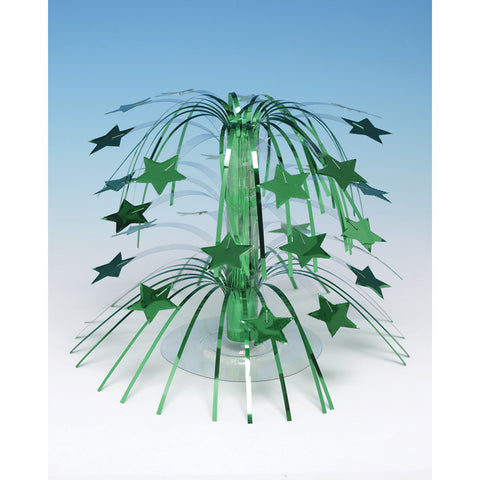 "Green Bulk Party Table Star Centerpieces 8.5"" H"