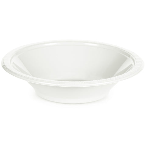 White Bulk Party Plastic Bowls 12 oz. (600/Case)-Solid Color Party Tableware-Creative Converting-600-