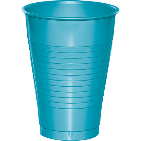 Bermuda Blue Bulk Party Plastic Cups 12 oz. (240/Case)-Solid Color Party Tableware-Creative Converting-240-