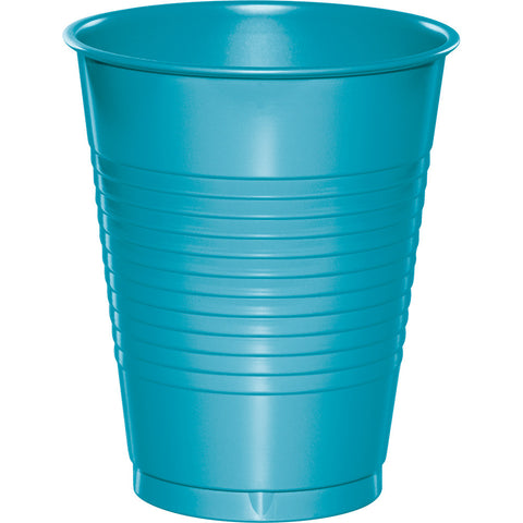 Bermuda Blue Bulk Party Plastic Cups 16 oz. (240/Case)-Solid Color Party Tableware-Creative Converting-240-