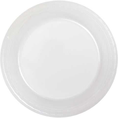 "Clear Bulk Party Plastic Dinner Plates 9"" (600/Case)"