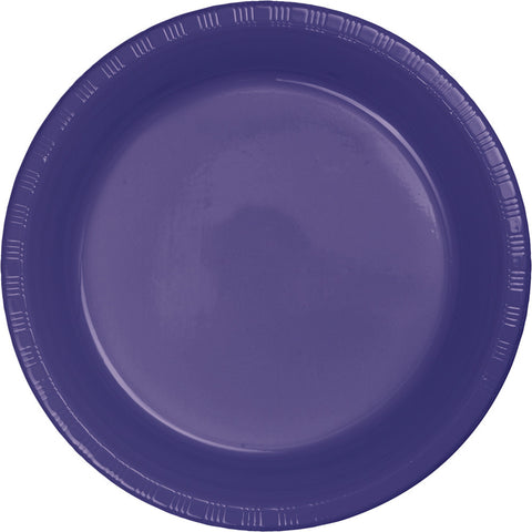 "Purple Bulk Party Plastic Dinner Plates 9"" (240/Case)-Solid Color Party Tableware-Creative Converting-240-"